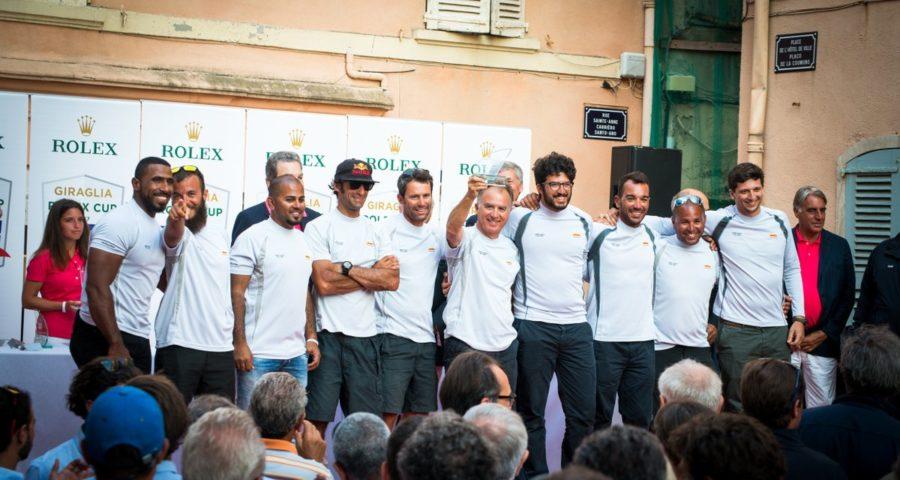 Oman Sail Yachtsmen Celebrate Winning Classic 2017 Giraglia Rolex Cup Race